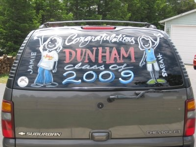 Car Window Painting! Class of 2009   Just Something I Made