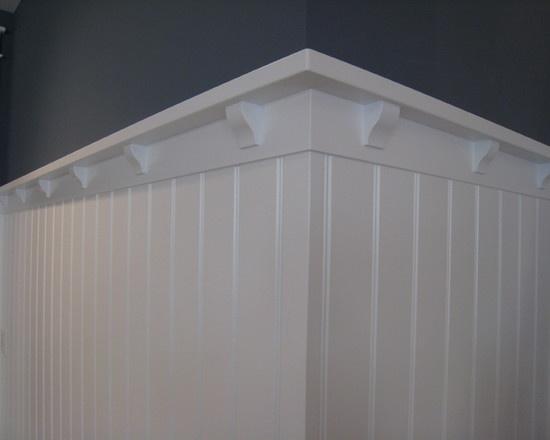 trim ideas for beadboard ceiling - beadboard wainscoting ledge DIY