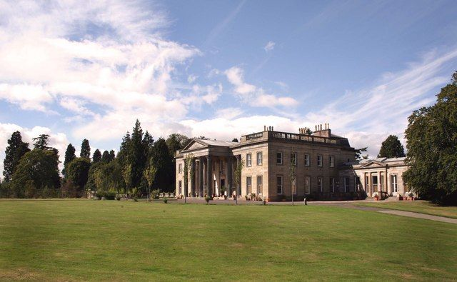 Stracathro Mansion, Angus, Scotland. Built in Palladian style between 1824-7, after the plans of Archibald Simpson (1790-1847).