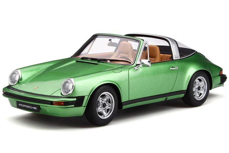 Porsche 911 S 2.7 Targa Ascot Green Metallic 1/18 Model Car by GT Spirit