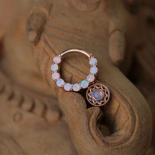 Some gorgeous gold jewelry from BVLA. All the jewelry they offer can be customized to your liking. Photo by Perry M. Doig of Rose gold.