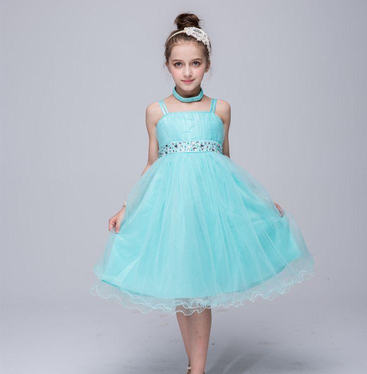 Navidad muchachas del vestido de boda de Perforación diomand falso cinturón tamaño de edad 4 5 6 7 8 9 10 11 12 años de edad de color azul rojo azul en Vestidos de La madre y Los Niños en AliExpress.com | Alibaba Group