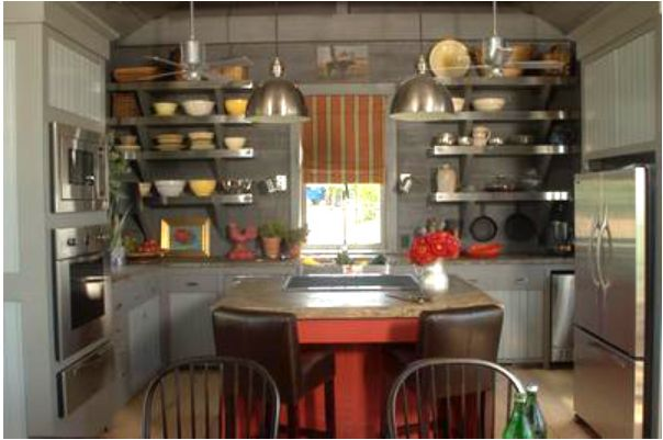 Smith Smith Kitchens: A Rustic Kitchen With Open Shelving