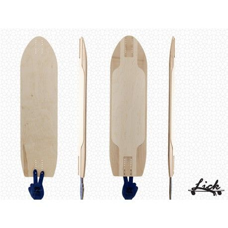 10E Downhill from Lick Longboards (via 99 Factory). Pure wood, no plastic at all.  #99factory #european #longboard #manufacturer #wood #noplastic #lick #longboards #downhill