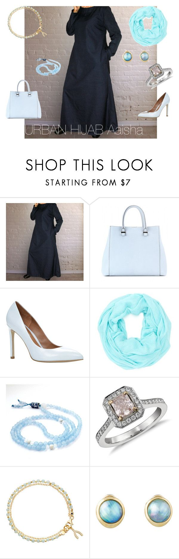 """""""Aaisha Traditional"""" by urban-hijab ❤ liked on Polyvore featuring Victoria Beckham, ALDO, Cara Accessories, Blue Nile, Astley Clarke and Tiffany & Co."""
