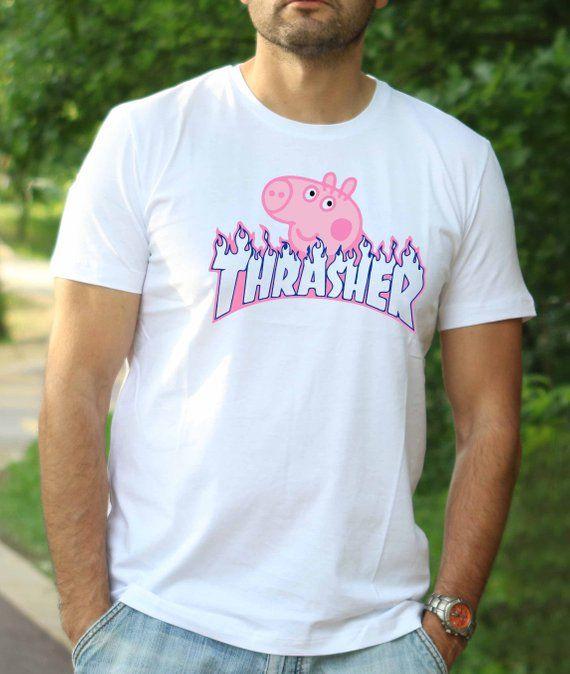 e733be0df5e5 Thrasher Shirt Peppa Pig Thrasher shirt Gucci tshirt Gucci | Etsy ...