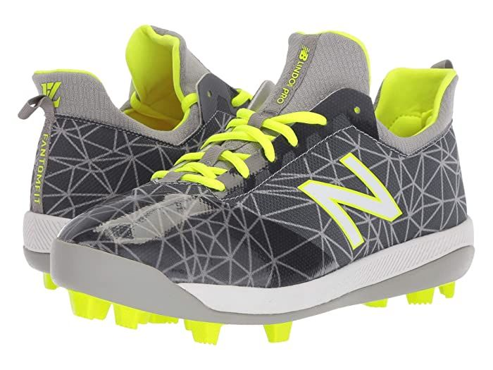 New Balance Kids Lindor Pro Youth Baseball Little Kid Big Kid Grey Hi Liter Kids Shoes Round The Bases With A Running St In 2020 Kids Shoes Youth Baseball Big Kids
