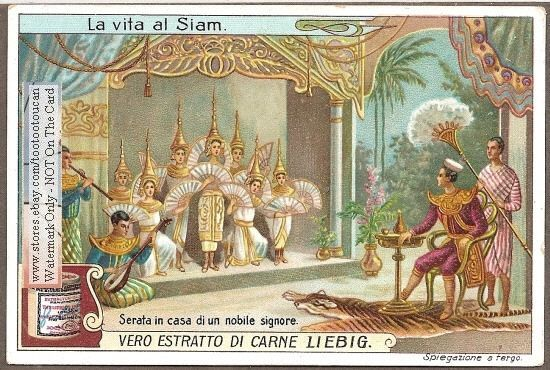 Siam - Thailand Royalty Music Art Dance c1910 Card