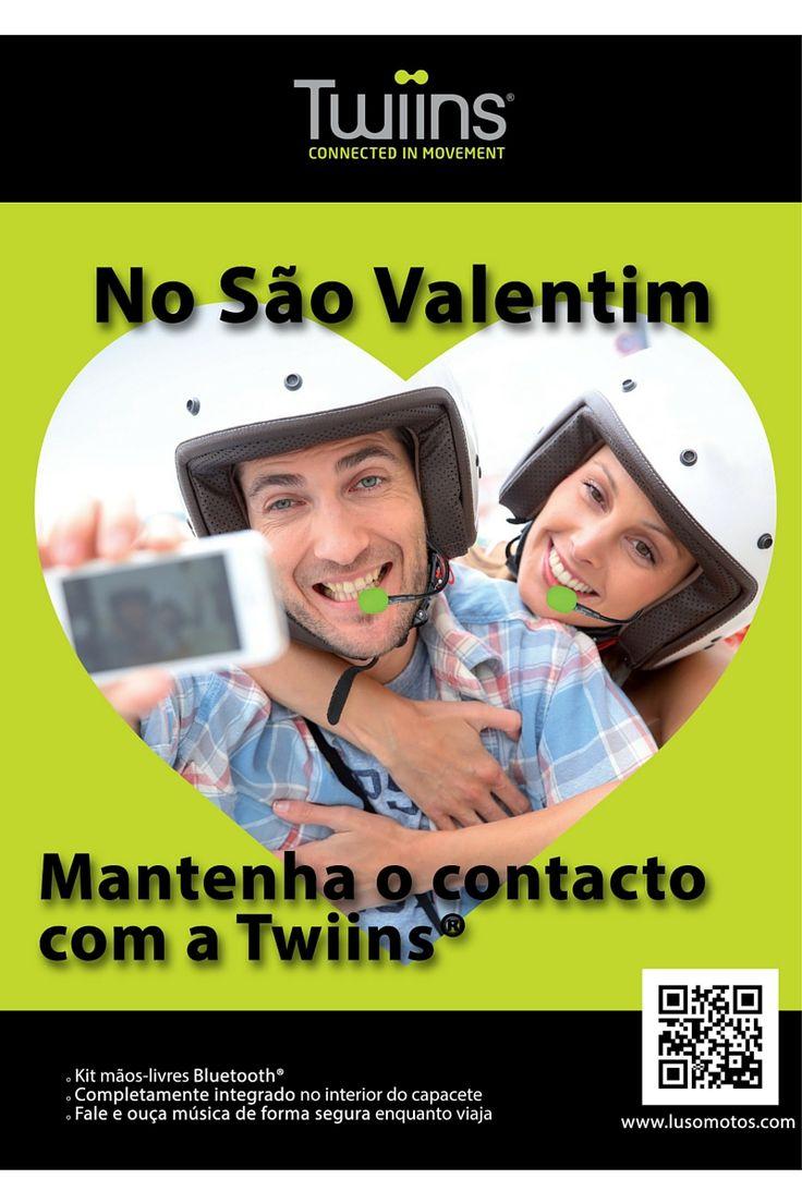 No Dia dos Namorados... Mantenha o contacto com a TWIINS. Feliz Dia de São Valentim! #lusomotos #fimdesemana #diadosnamorados #twiins