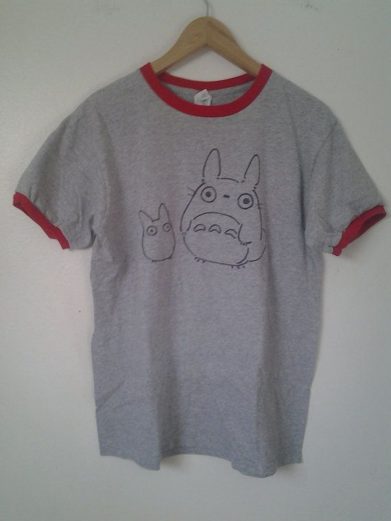 Totoro Ringer Tee by SpaceBabes on Etsy