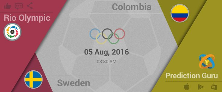 #Rio2016, #Football Today'sMatch #Sweden V #Colombia PredictWinner at http://pgur.in/pj9frp &win #Olympics2016