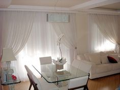 cortinas de tela para salon