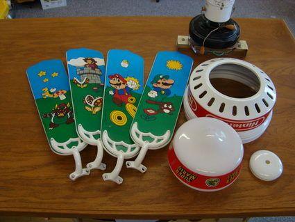 Super Mario Bros  ceiling fan on eBay until noon tomorrow    Joystiq. 23 best Super Mario Bros images on Pinterest