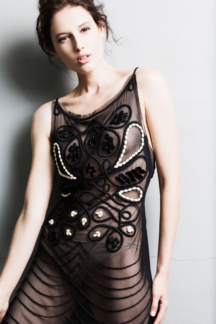 Ifigenia Fokas SS15 Hand embroidered dress  Photo credit Ilias Agiostratitis
