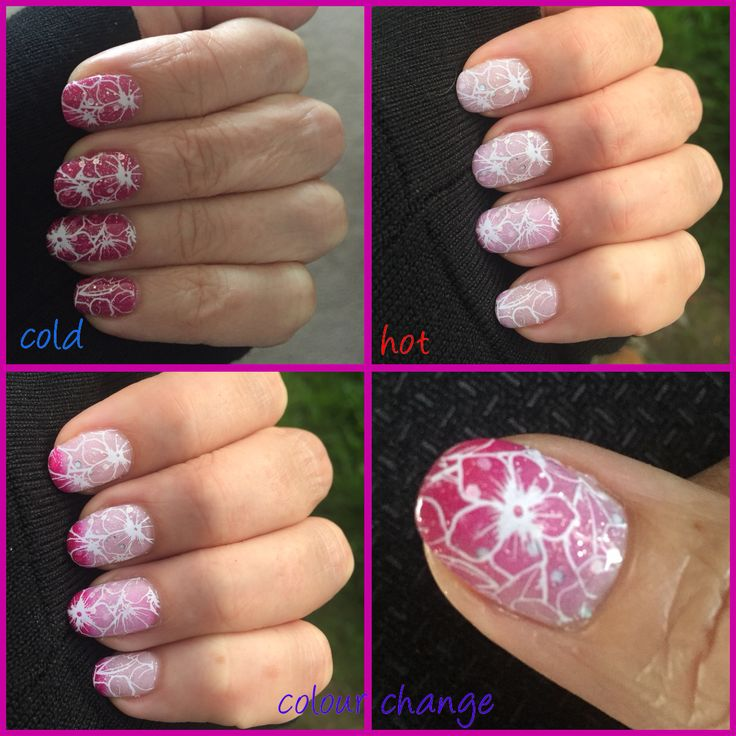 Madam Glam Love on Top chameleon gel with white Yours Cosmetics stamping.
