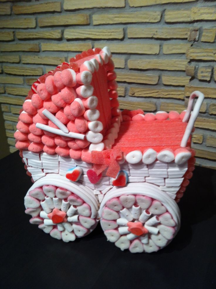BABY SHOWER~ BABY CARRIAGE MADE OUT OF CANDY