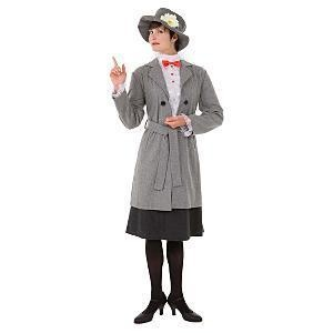 Disney Store MARY POPPINS Halloween ADULT DRESS L Womens Costume