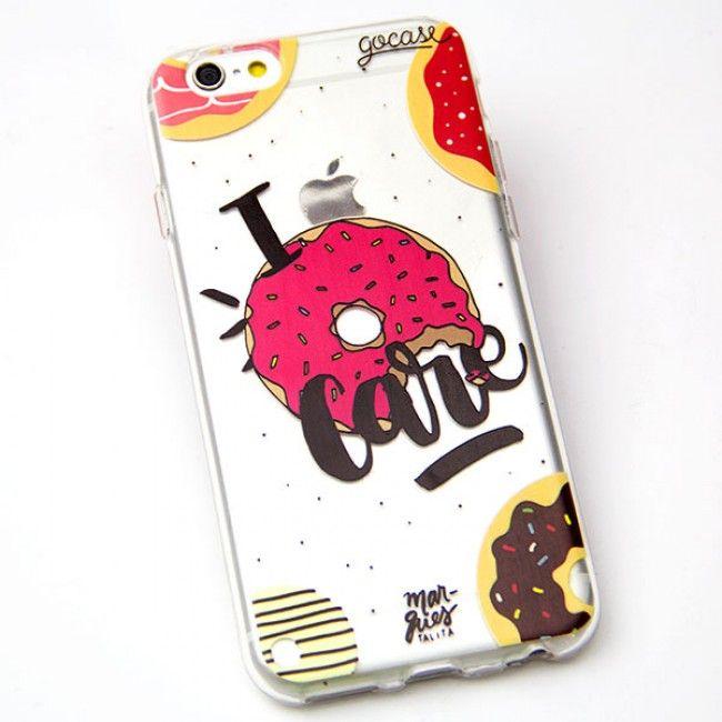 Capinha para celular Eu amo Donuts