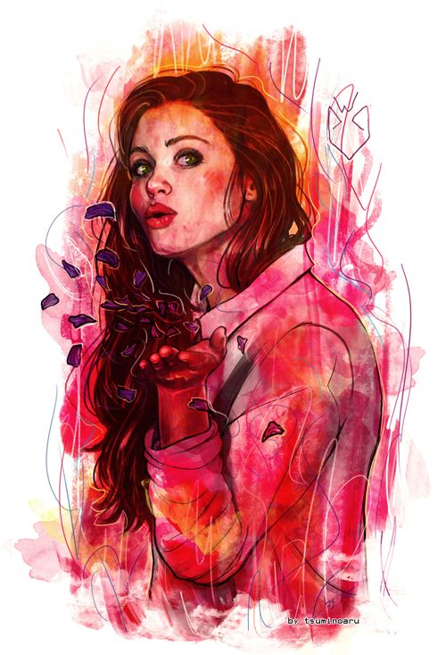 fantastic Lydia Martin fan art by tsuminubiaru on tumblr.