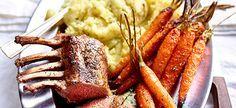 Delhaize - Lamskroontje met tijmpuree en geroosterde wortelen