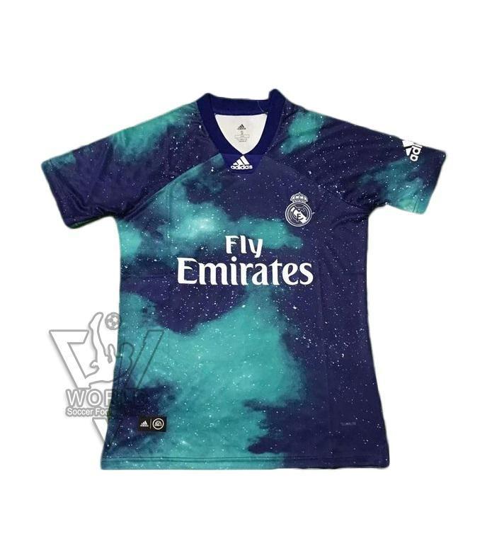 Real Madrid C F Football Club 4th Kit Ea Sports X Adidas Limited Edition 2018 19 Futbol Soccer Calcio Shirt Jersey Fussball Camisa Trikot Maillot Maglia Camise Real Madrid Camiseta Madrid