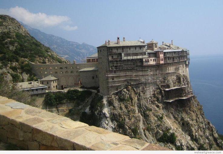 Simonos Petras monastery, #MountAthos, #Halkidiki