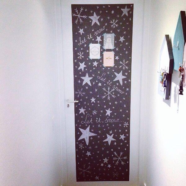 Deur met schoolbordverf beschilderd!  tantesetje.blogspot.nl