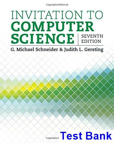 50 best test bank download images on pinterest invitation to computer science 7th edition schneider test bank test bank solutions manual fandeluxe Choice Image