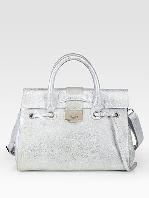 Jimmy Choo Foiled Leather Satchel