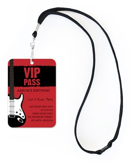 This V.I.P pass would suit the Music Festival Theme. It is well set out, and I like how there isn't too much text or imagery.