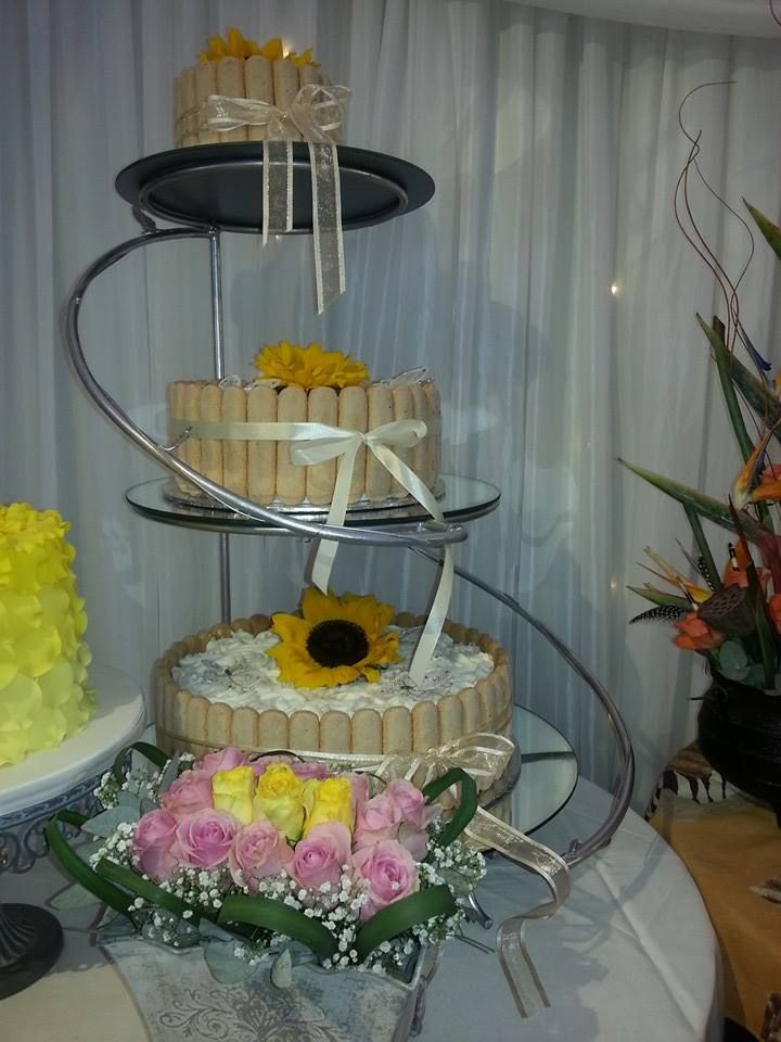 Unique take on wedding cake -Bread Ahead Cowey Road (Stand not included)