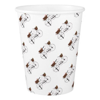 Antique bicycle paper cup - antique gifts stylish cool diy custom
