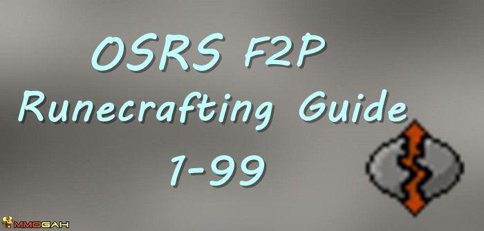 OSRS 1-99 F2P Runecrafting Guide | RuneScape