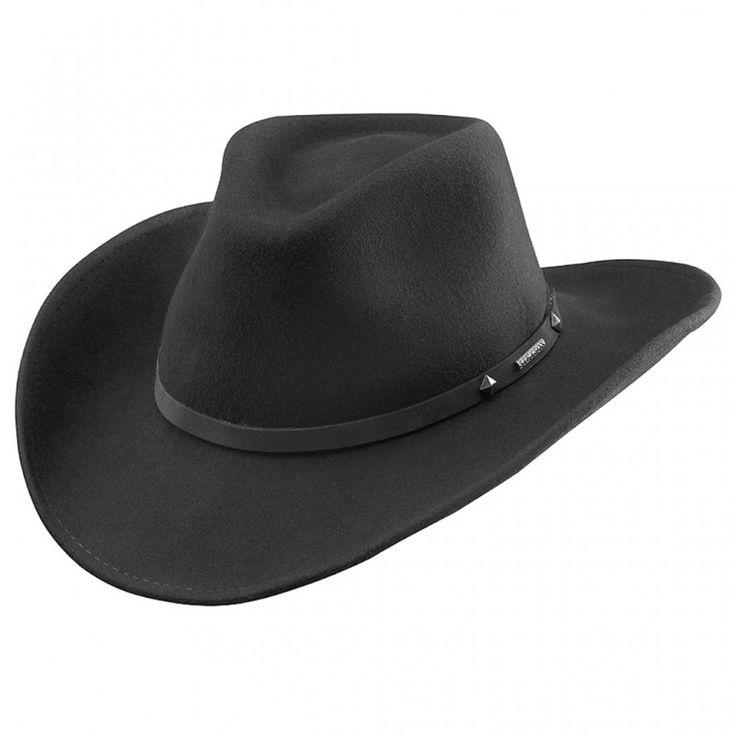 Stetson Bangs er en lekker sort Cowboyhatt i god kvalitet.