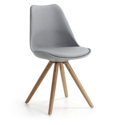 La Forma Lars Stoel Grijs/Hout - Set van 2: Lekker zachte stoelen voor rond de eettafel.