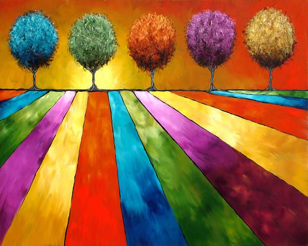 Landscape in Color by Joan Marie  Nice idea for Color Wheel, or color relationships lessons - primary and secondary (color mixing), complementary, analogous, etc.