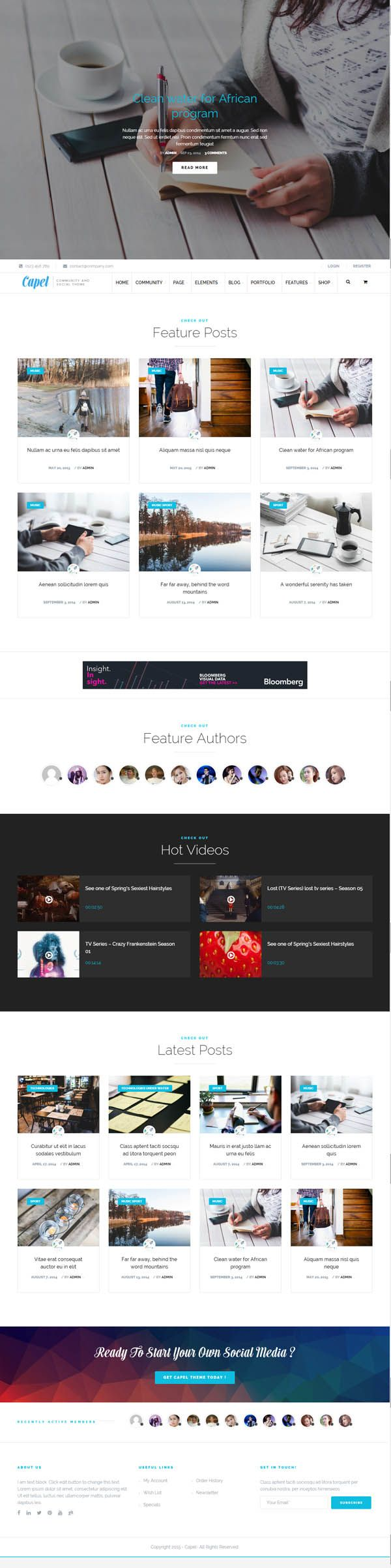 Capel : Multi-Purpose BuddyPress WordPress Theme | Wordpress Themes | Design Blog