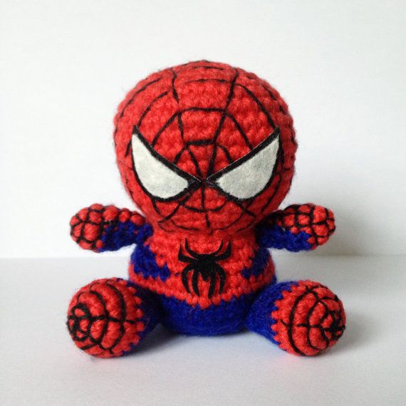 Spiderman superhero amigurumi crochet pattern. One day, when I'm better at amigurumi, I will make this for my sister.