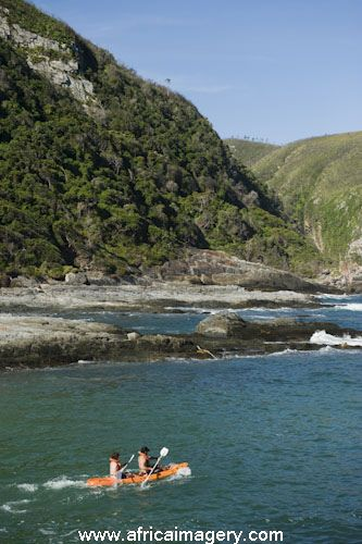 Canoeing, Tsitsikamma National Park, Garden Route, South Africa