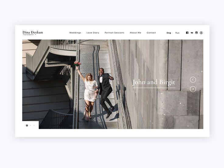 Wedding photographer website design by Alexander