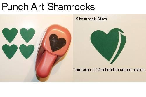Punch art shamrocks