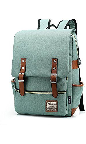 Unisex Professional Slim Business Laptop Backpack, Feskin Fashion Casual Durable Travel Rucksack Daypack (Waterproof Dustproof) with Tear Resistant Design for Macbook, Tablet - Light Green