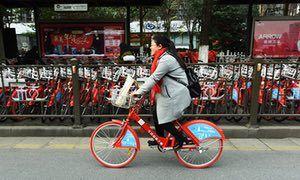 The public bike share in Hangzhou. Uber for bikes