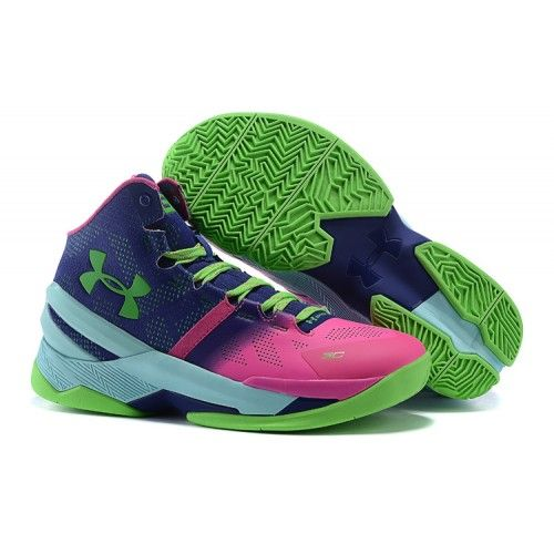UA Curry Two Elite Mens Basketball Shoes Purple Pink Blue - Stephen Curry Shoes…