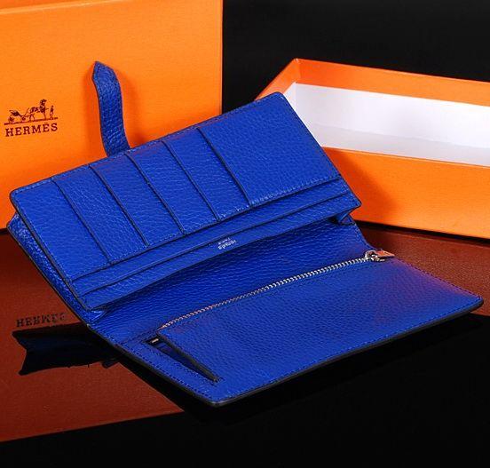 Hermes Bearn Wallet Blue