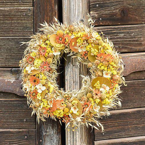 Hydrangea / Prírodný veniec na dvere