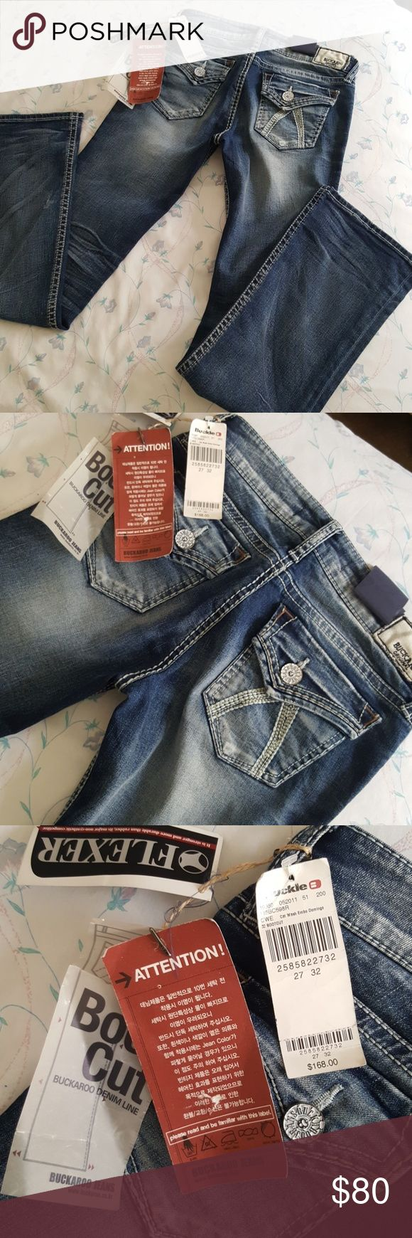 New Buckaroo Boot Cut Jeans  $168.00 Retail Brand new brand name label jesns.. Made of cotton and polyurethane material in Korea. Inseam from crotch to bottom is 32 inches long. Buckaroo Jeans Boot Cut
