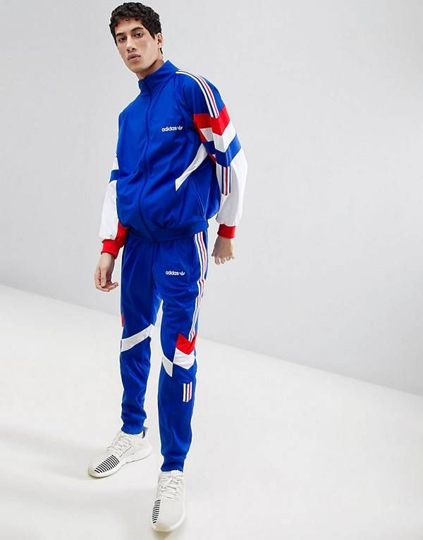 adidas Originals Vintage Tapered Tracksuit in Blue | Style +