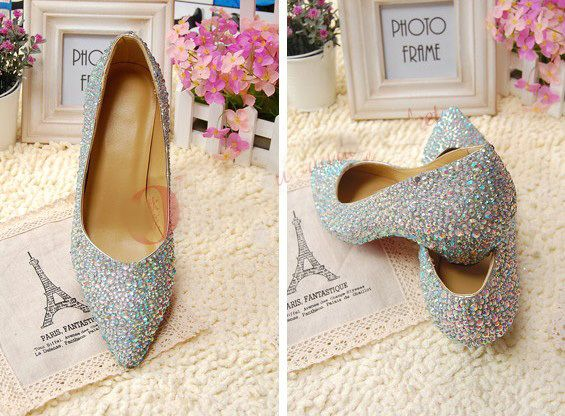 2014 New Fashion Pointed Toe Wedding Party Dress Shoes Bridal