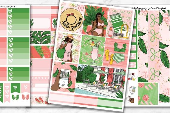 Life Planner Sticker Kit Sunkissed Mini Kit on premium matte